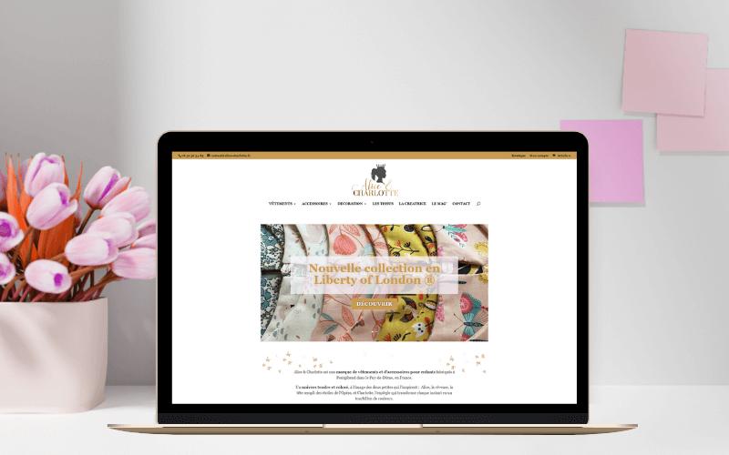 Création du site web boutique sur mesure alice-charlotte.fr
