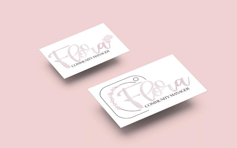 Création logo et identité visuelle pour Flora Community Manager