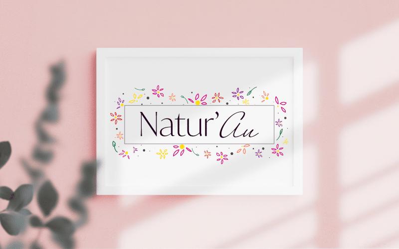 Création du logo pour le site web Natur'Au