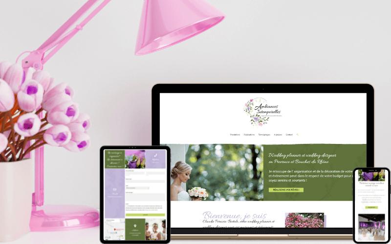 Création de la boutique en ligne l'instant présent, les coutures d'Amandine